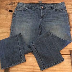 Simply Vera Wang Straight Leg Skinny Jeans